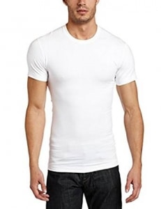Crew Neck Mens Shapewear T Shirt