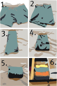 How to fold undewear